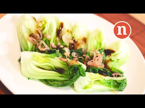 Baby Pak Choi with Oyster Sauce | Chinese Blanched Vegetables [Nyonya Cooking]