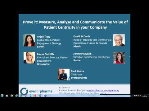 Webinar - Prove it: Measure, Analyse and Communicate the Value of Patient Centricity in your Company