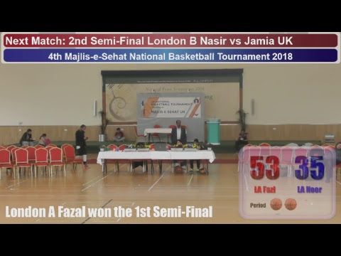 2nd Day - 4th Majlis-e-Sehat National Basketball Tournament 2018