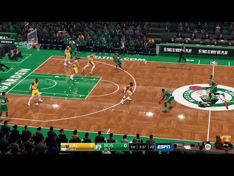 NBA LIVE 19 - Los Angeles Lakers vs Boston Celtics - CPU SIM Full Game PS4 PRO - HD
