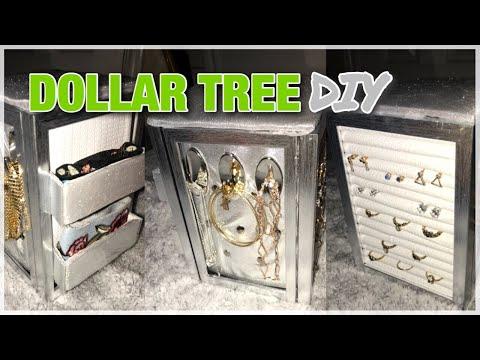 DIY DOLLAR TREE JEWELRY BOX! Easy + cheap!