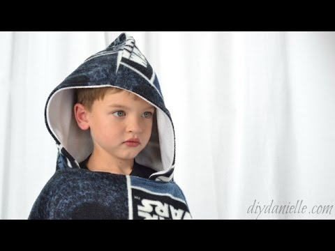 How to sew a car seat poncho with hood
