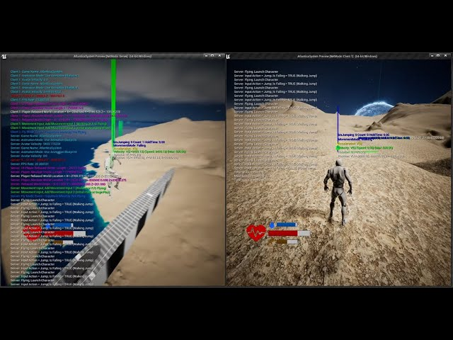 Space Game With Multiplayer and World Origin Shifting in Modified UE 4.26