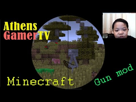 Minecraft - How to build TNT Canon and Gun mod AthensGamerTV by Athens Thanakrit