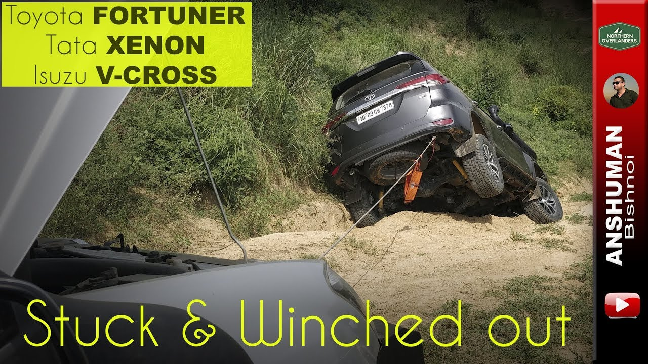 Why you should never go off-roading ALONE: Toyota Fortuner
