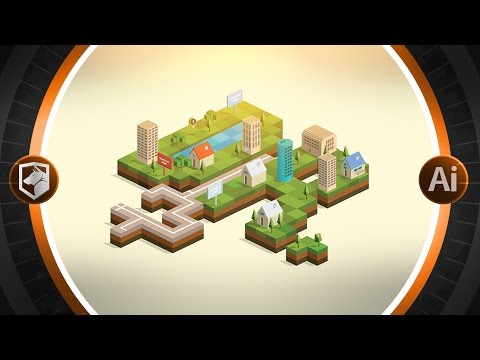 2D Isometric Tutorial | Illustrator CC | By Flow Graphics:freedownloadl.com  design, mobil, iso, filter, movi, adob, free, window, 3d, digit, download, design, game, anim, creativ, cc