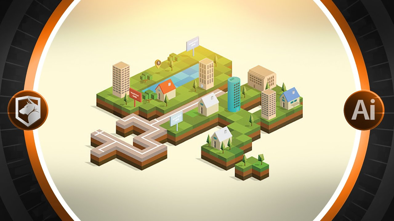 2d Isometric Tutorial Illustrator Cc Flow Graphics