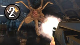 Alien Vs Predator (2010) Mission 2 | Marine Gameplay