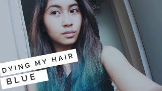 Dying my hair BLUE using Crazy Color's Sky Blue ????