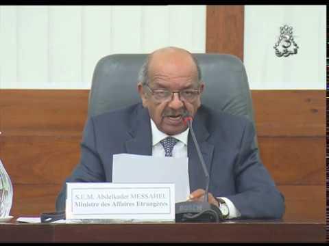 وزير الشؤون الخارجية عبد القادر مساهل