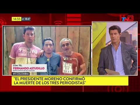 Periodistas ecuatorianos secuestrados y asesinados en Colombia