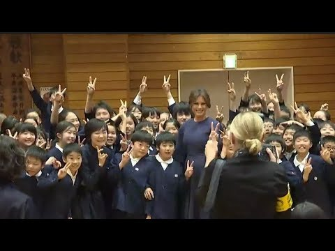 AMAZING: Japanese Elementary Schoolers Sing for First Lady Melania Trump in Tokyo