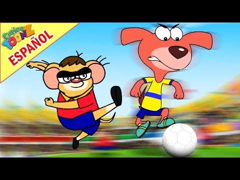 Rat-Ataque en español   Partido de Fútbol   Dibujos animados   Aventuras para Niños   CaricaToonz