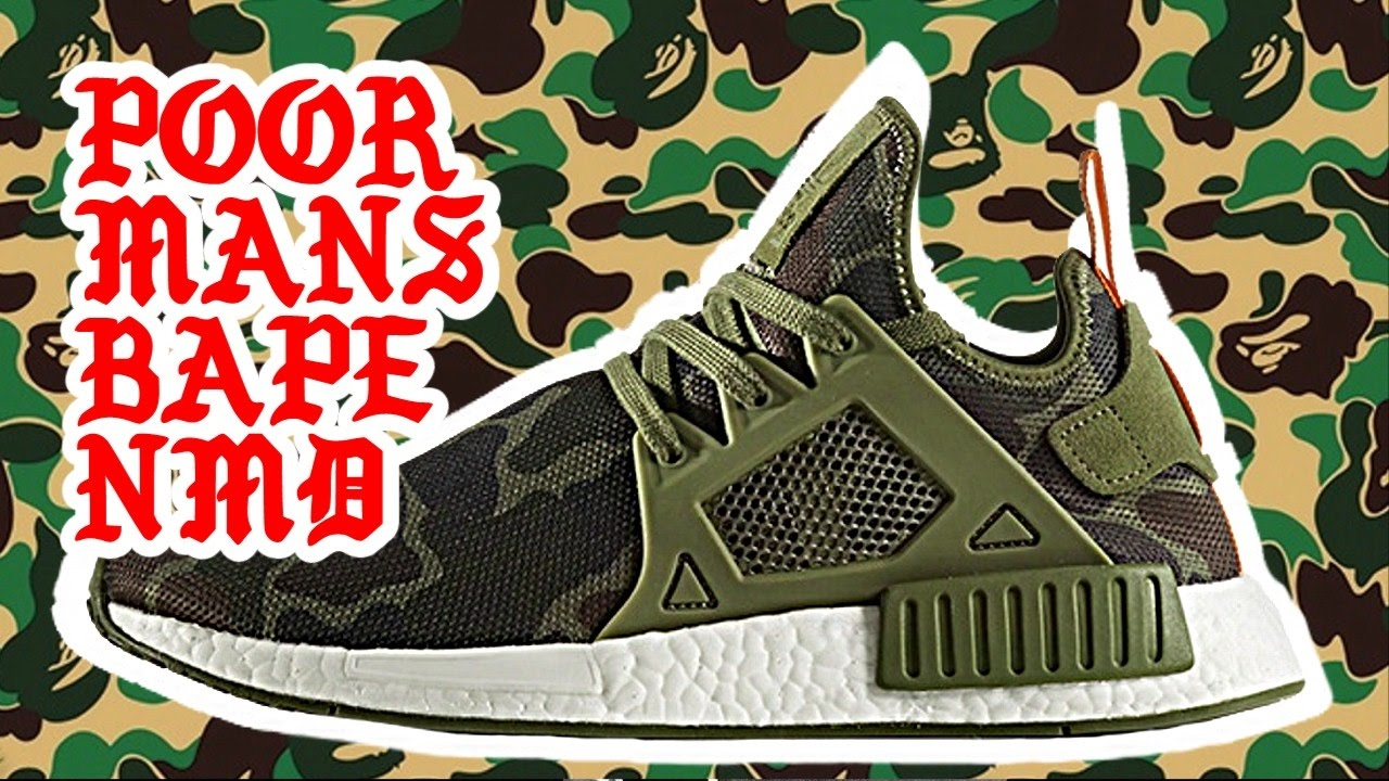 be6292bb6 POOR MANS ADIDAS NMD XR1 BAPE DUCK CAMO REVIEW - YouTube