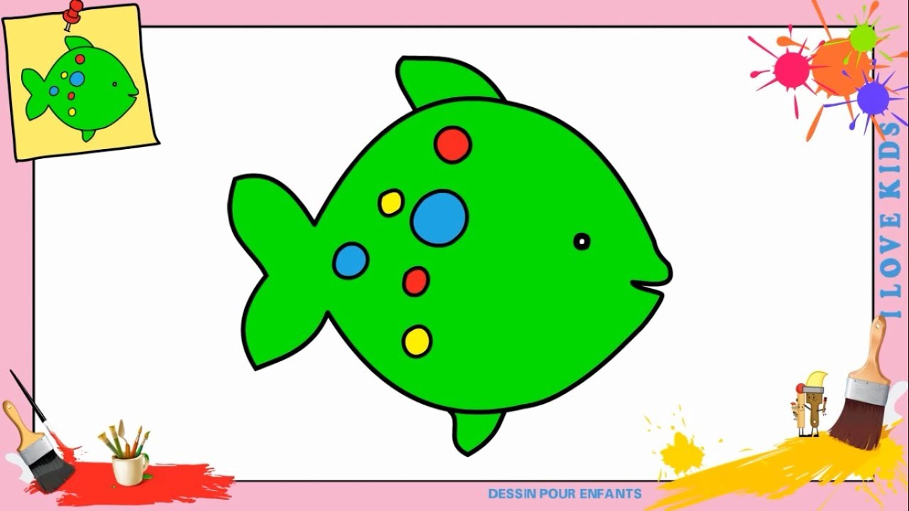 Dessin poisson kawaii facile comment dessiner un poisson kawaii facilement youtube - Dessin de poisson facile ...