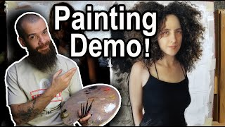 Painting Demo, Final Layer Using Four Colors. Cesar Santos vlog 082