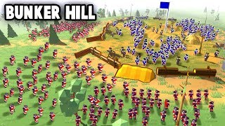 BUNKER HILL - epic HILL FORTRESS vs Redcoats! (Rise of Liberty NEW Update Gameplay)