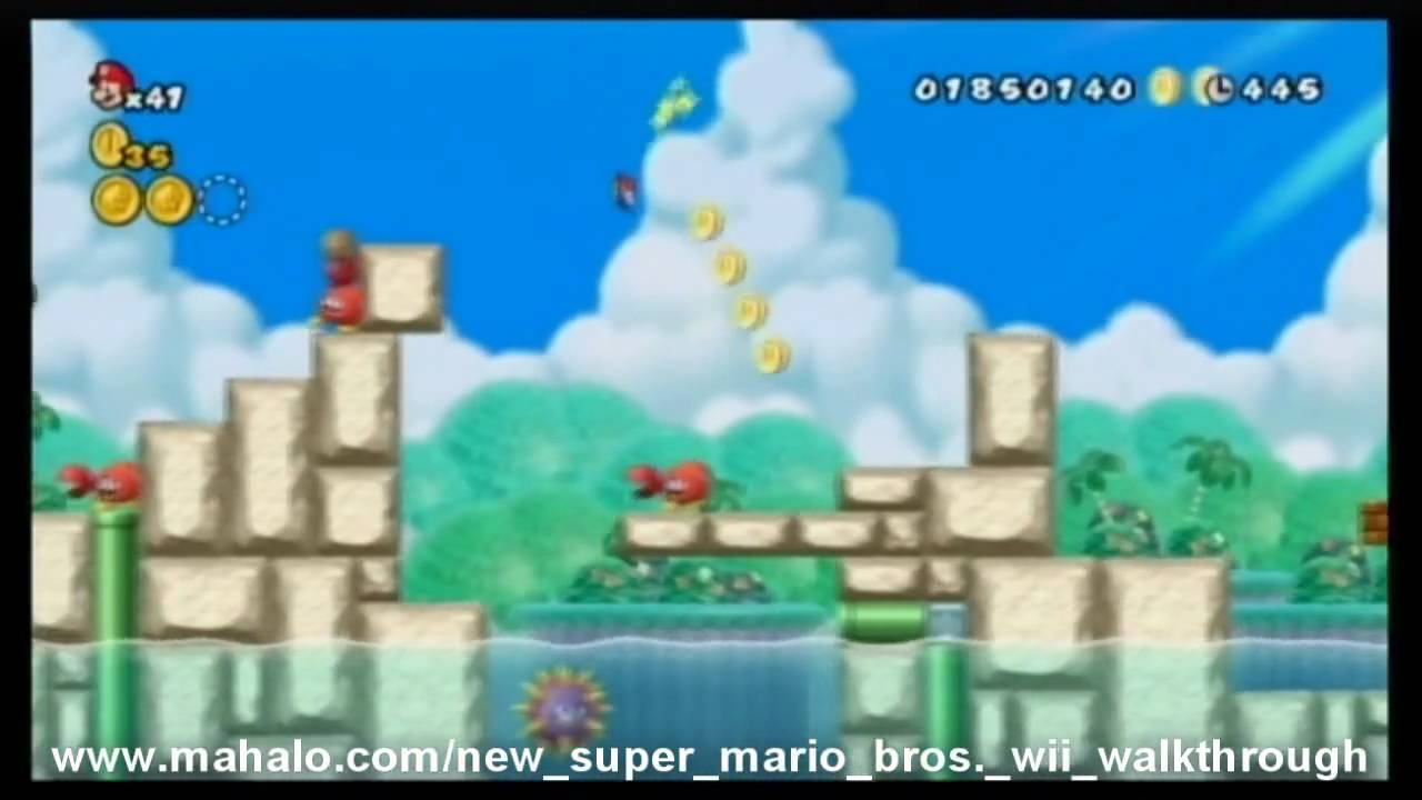New Super Mario Bros Wii Walkthrough World 4 3 Youtube
