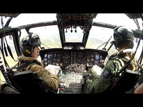 Flight with Royal Navy Sea King