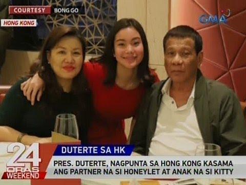 24 Oras: Pres. Duterte, nagpunta sa Hong Kong kasama ang partner na si Honeylet at anak na si Kitty