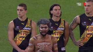 Dreamtime ceremony fires up the 'G - AFL