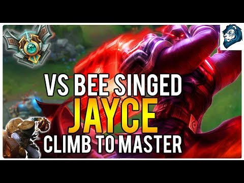 JAYCE VS BEE SINGED - Climb to Master | League of Legends