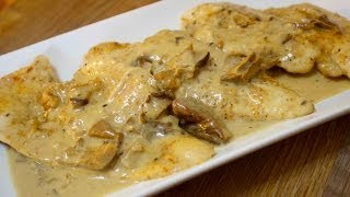 Creamy Mushroom Cheesy Chicken - Cooked By Julie - Episode 92