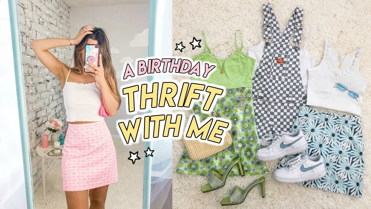 THRIFT WITH ME FOR MY BIRTHDAY ☆ the BEST summer thrift haul ever!