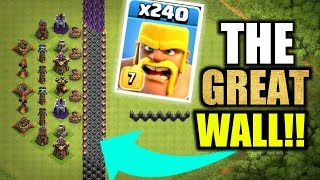 THE GREAT WALL OF CLASH OF CLANS! - INSANE TROLL BASE GAMEPLAY!