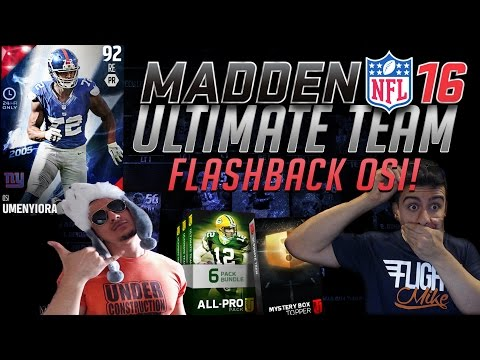 Madden 16 Ultimate Team- OMFG REACTION! TRIPLE ALL PRO PACK OPENING! NEW! Flashback Osi Umenyiora!