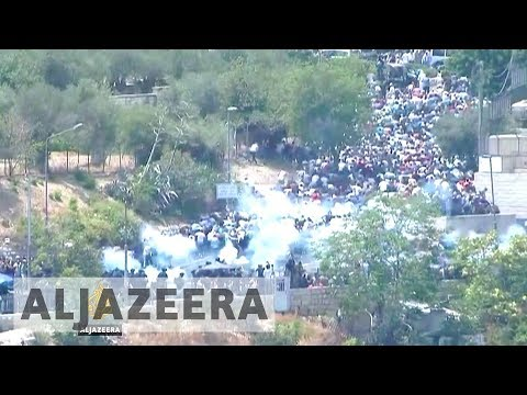 Three Palestinians killed as protests rage over al-Aqsa