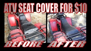 Simple seat cover for motorcycles and atvs
