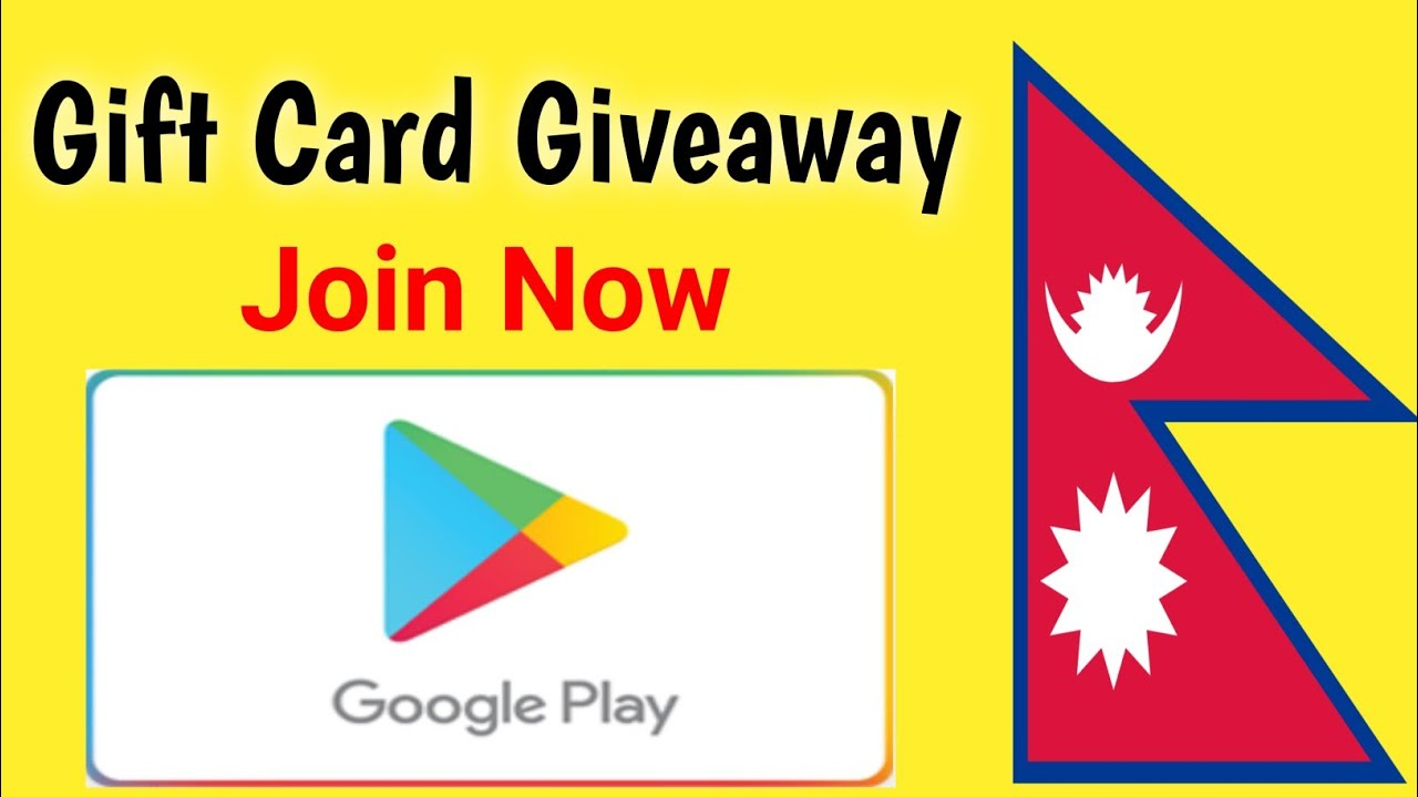 Giveaway Of Google Play Gift Card Codes 2020 In Nepal - 200 INR Google Play Gift Card Free