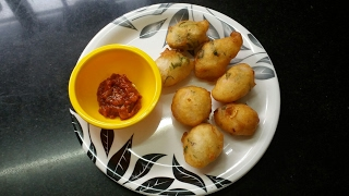 Arisi mavu bonda /rice batter snacks /South Indian recipes /bachelor's cooking/Nal-21