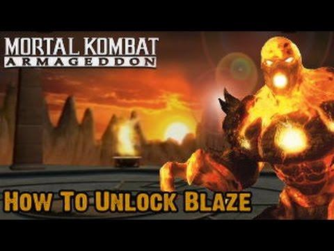 How To Unlock Blaze In Mortal Kombat Armageddon