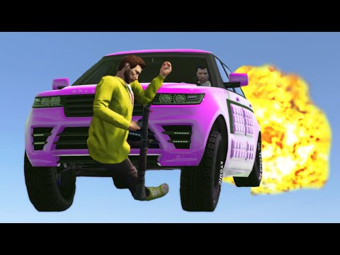 SMASHED BY THE FIRE CARS! (GTA 5 Funny Moments)