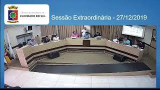 Sessão Extraordinária - 27/12/2019