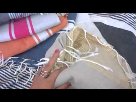 serviette fouta tunisienne pas cher youtube. Black Bedroom Furniture Sets. Home Design Ideas