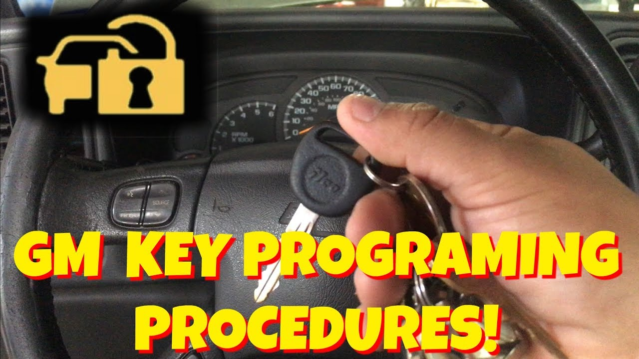HOW TO PROGRAM A GM/CHEVY CODED/ANTI THEFT KEY FOR FREE ...