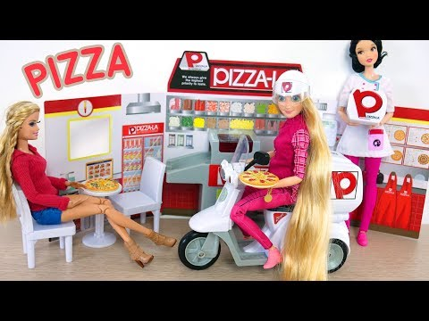 Barbie Pizza LA Delivery Store Japanese Toy Toko mainan Barbie Pizza Barbie Pizza loja de brinquedos