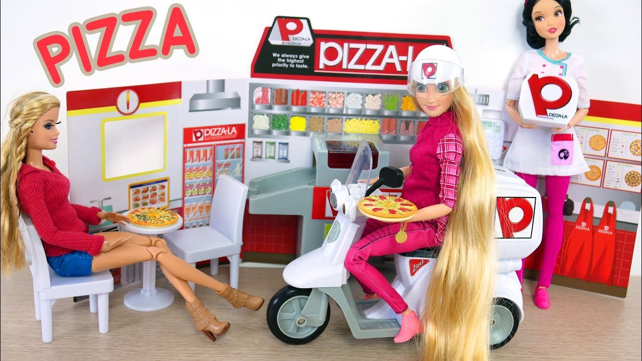 Barbie Pizza LA Delivery Store Japanese Toy Toko mainan Barbie Pizza Barbie  Pizza loja de brinquedos 540416869f
