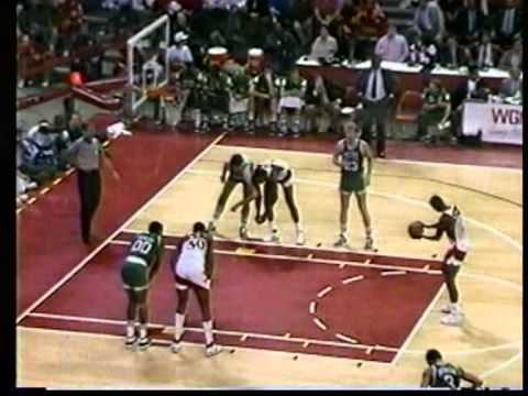 Dominique Wilkins 54 points, season 1987 hawks vs celtics