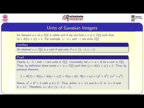 The Gaussian Integers (MATH)