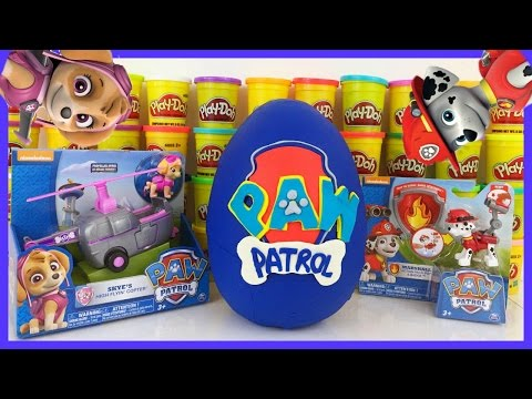 Thumbnail: Huge Paw Patrol Play Doh Surprise Egg Skye Marshall Shopkins MLP Angry Birds Blind Bags!