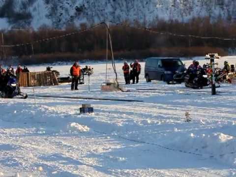 Snøscooter drag i Skoganvarre 26.02.12