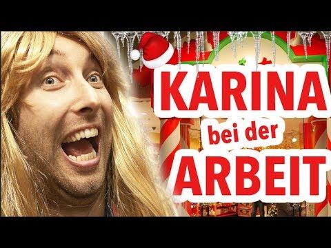 Karina bei der Arbeit - Weihnachts-Shop !!!