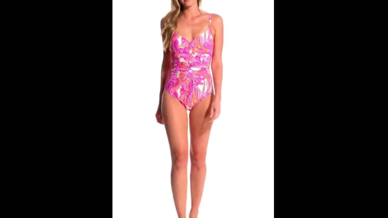 89738489e4 Miraclesuit Persian Garden Nip  N Tuck One Piece Swimsuit ...