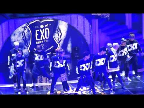 140116 Golden Disk #EXO Intro Dubstep FANCAM   YouTube