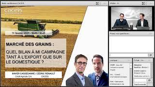 Webinar #3 – Replay Commodities / Marché des grains 2020/21 -  Quel bilan à mi-campagne ?
