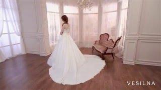 Свадебное платье А силуэт со шлейфом от VESILNA™ модель 3025